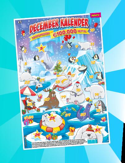 Decemberkalender kraslot bij de Cornershop