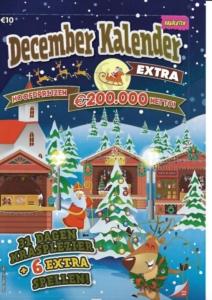 Decemberkalender € 10,- bij de Cornershop