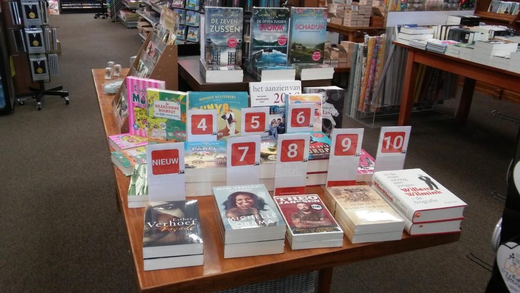 Top 10 boeken bij de Cornershop Soesterberg